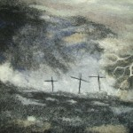 Twelth Station - hand felted merino wool, part of a set of 'Stations of the Cross'