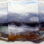 Folded Wolds - hand made felt landscape, folded and embroidered